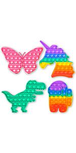 Dinosaur amp; unicorn Push pop