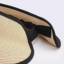 visors for women sun visors beach straw visor for women size adjustable by Velcro size adjustment