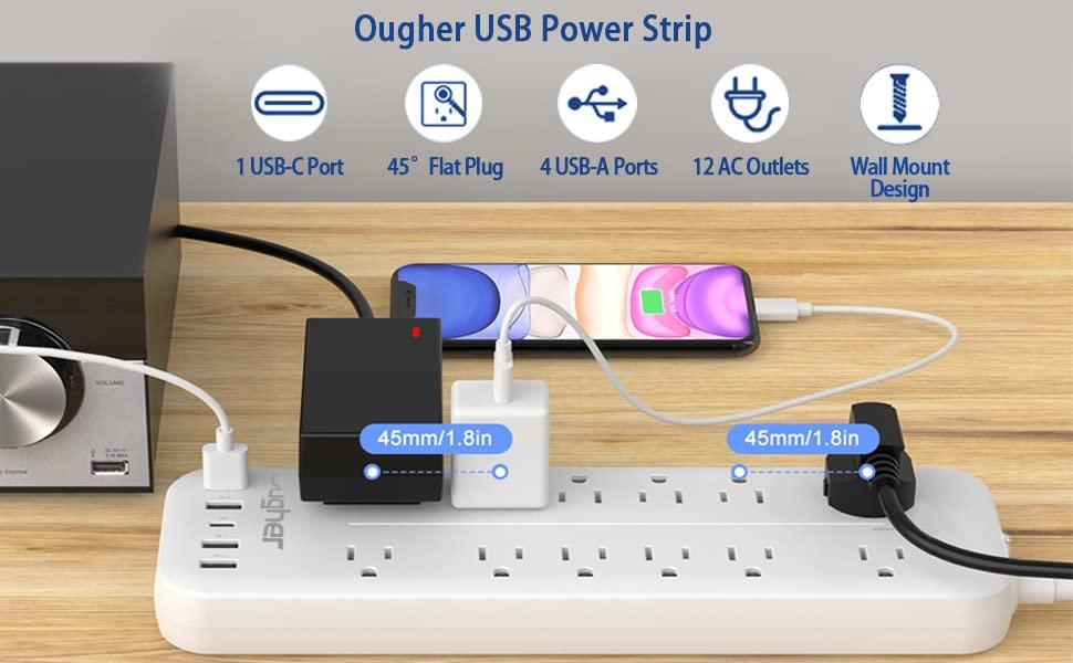 Ougher USB Power Strip