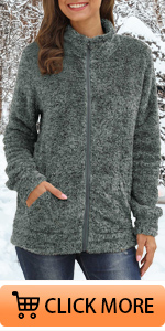 Full Zip Soft Warm Fleece Jacket