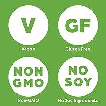 free of soy, non-gmo, gluten free