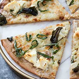 Basil garlic pizza