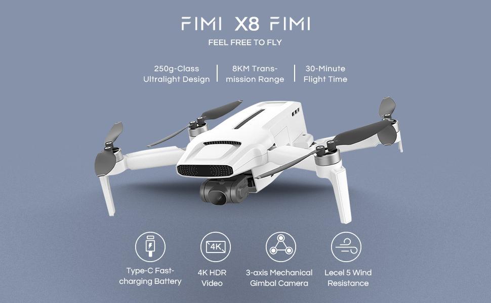 FIMI X8 Mini Camera Drone 250g Quadcopter Drone