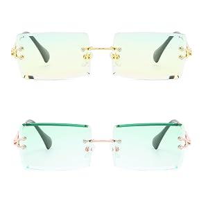 rectangle sunglasses 2000s
