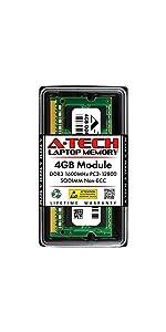 A-Tech 4GB DDR3 1600MHz PC3-12800 SODIMM