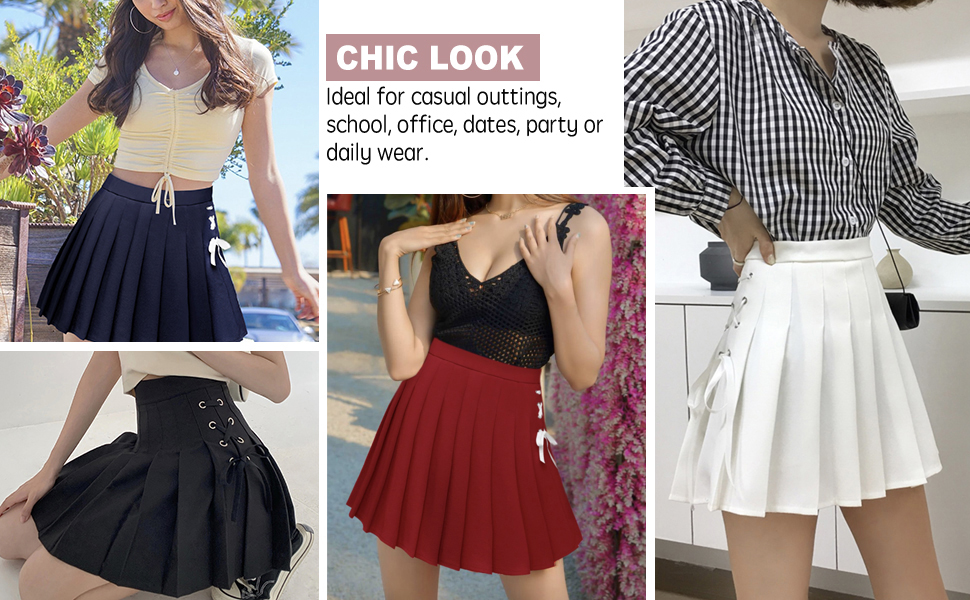 mini pleated skirts