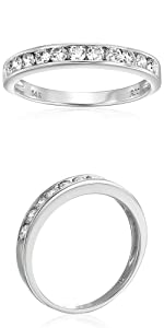 Vir Jewels 1/2 cttw Classic Diamond Wedding Band in 14K White Gold Channel Set