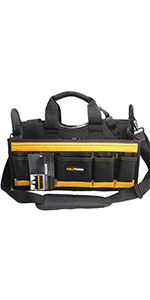 Center Tray Tool Bag with shoulder strap, HAVC Tool bag,