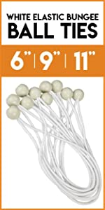 white elastic ball bungee ties for tarp accessories