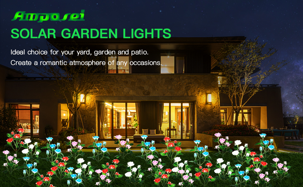 Solar Flower Garden Light