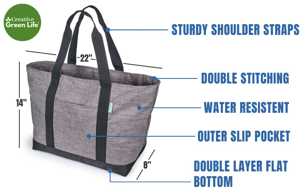 STURDY SHOULDER STRAPS, DOUBLE STITCHING, WATER RESISTENT