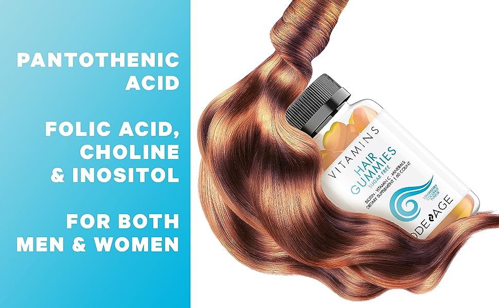 Codeage Hair Gummies Biotin Vitamin D3