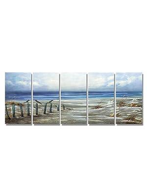 beach metal wall art