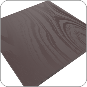 Simulated wood grain