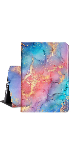 Red Blue Abstract Marble ipad case