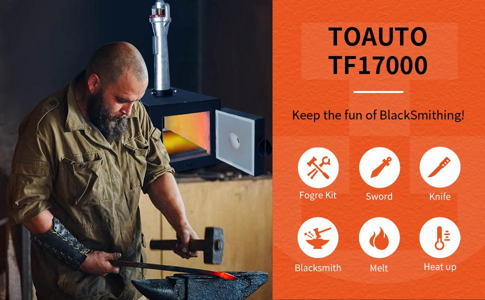 blacksmithing forge burner
