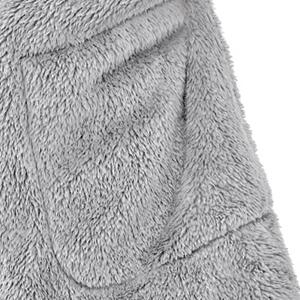 Women's Casual Long Sleeve Fuzzy Fleece Open Front Hooded Pockets Cardigans Jackets Coats