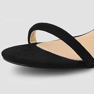 Allegra K Women's Strappy Ankle Strap Chunky Heels Sandals