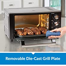 power xl air fryer grill's removable die-cast grill plate