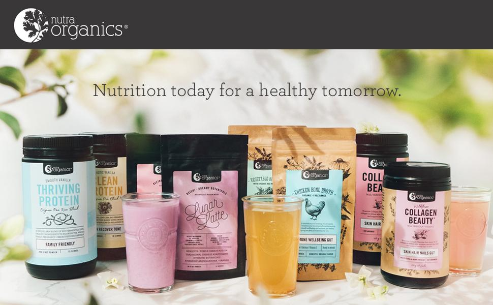 nutra organics collagen beauty latte broth thriving protein
