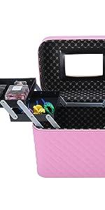 pink comestic train case
