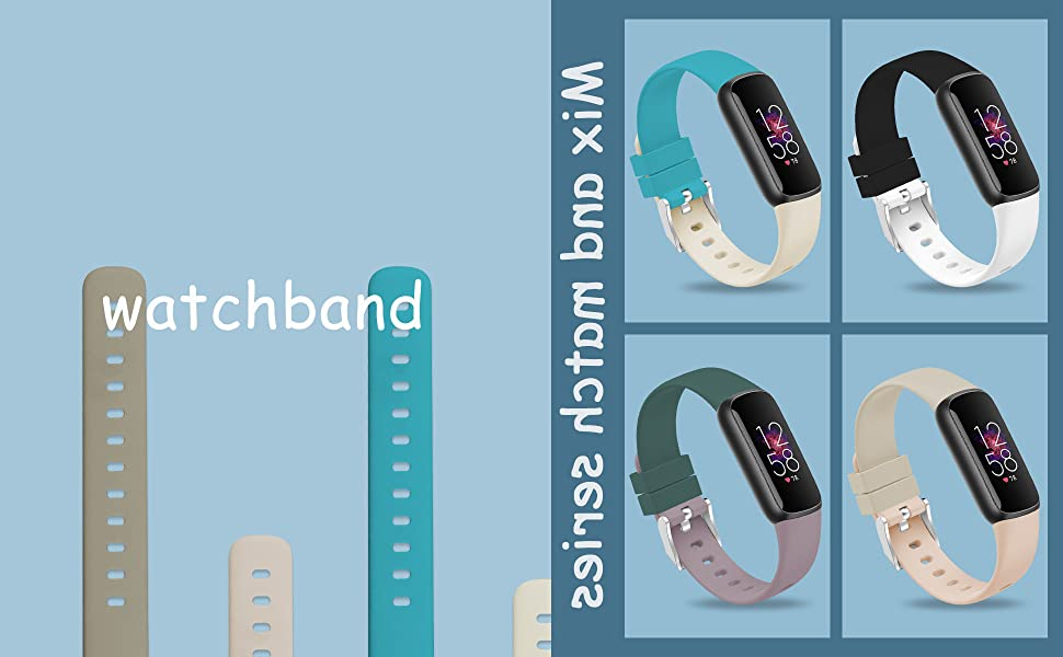 TopPerfekt Bands Fit for Fitbit Luxe, Adjustable Soft Silicone Replacement Watch Band