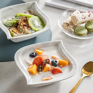 porcelain dinner sets dishes marble gray bowls cereal bowls salad pasta bowls small dessert bowls