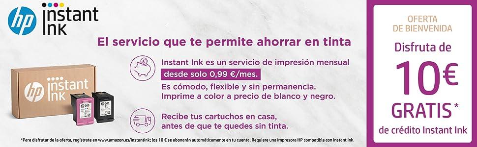 OFERTA DE BIENVENIDA SERVICIO HP INSTANT INK