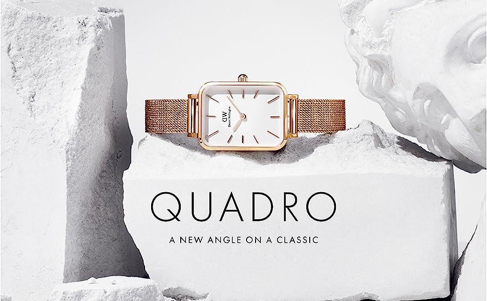 dw, daniel wellington, quadro, rectangle watch, square watch, daniel wellington square, mesh, watch