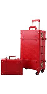red alligator suitcase