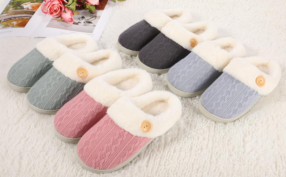 Women's Fuzzy Slippers