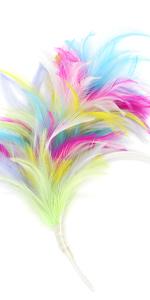 1920s Fascinator  Feathers Headband for Women Kentucky Derby Wedding Tea Party Headwear
