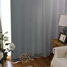 grommet greyish white and grey ombre light blocking curtains for living room