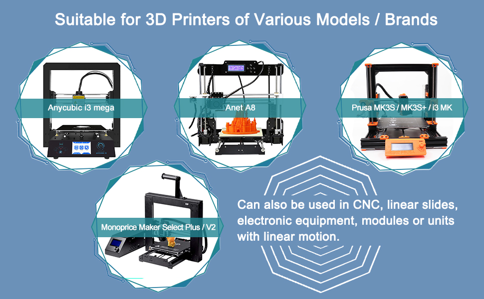 Suitable for 3D Printers of Various Models / Brands