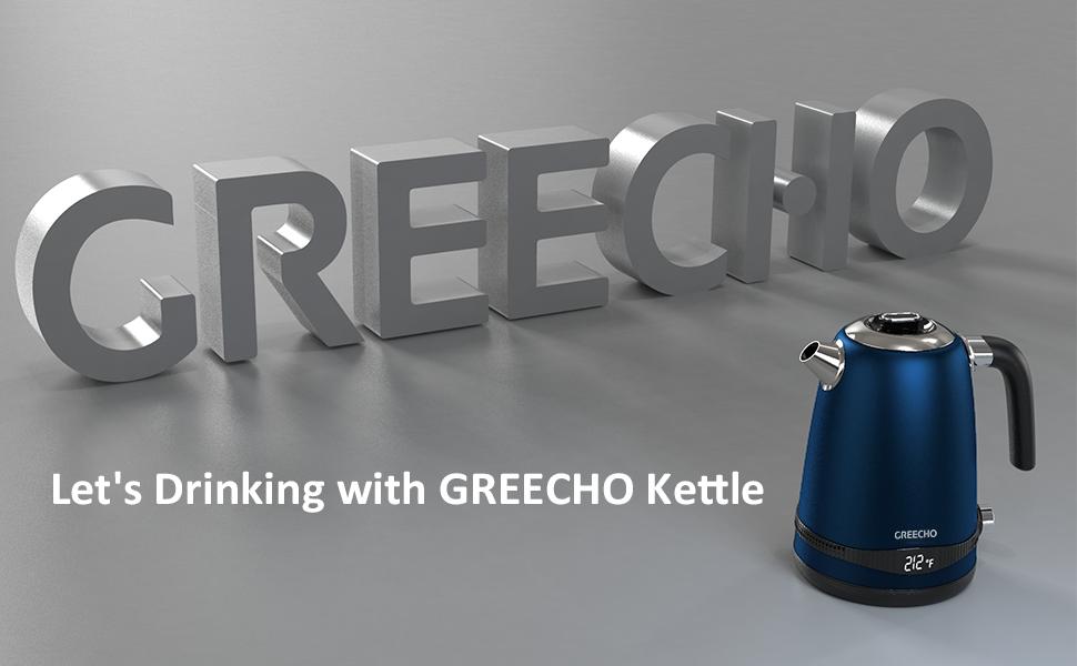 GREECHO Temperature Control Electric Kettle, Your Best Tea Companion!
