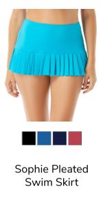 Sophie Pleated Swim Skirt