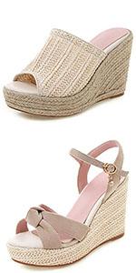 women espadrille wedge sandals