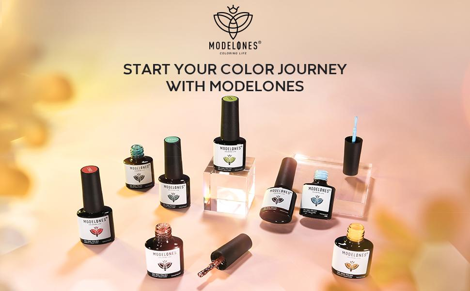 Gel nail polish exhibition