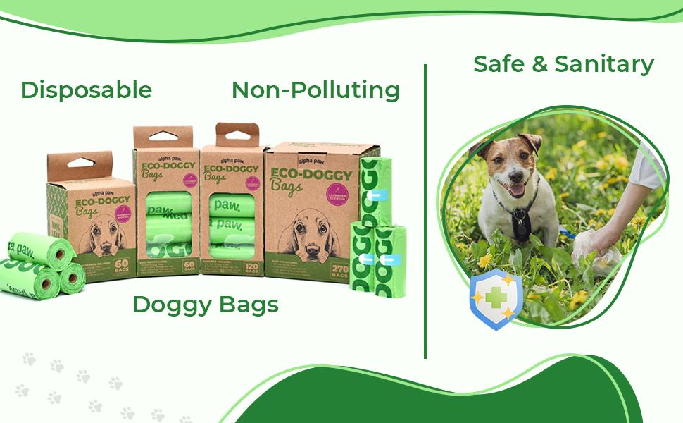 doggy bags poop poo dogs doggie travel  dog scented alpha pack bag dispenser