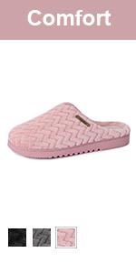 Women's Soft Flannel Memory Foam Slippers