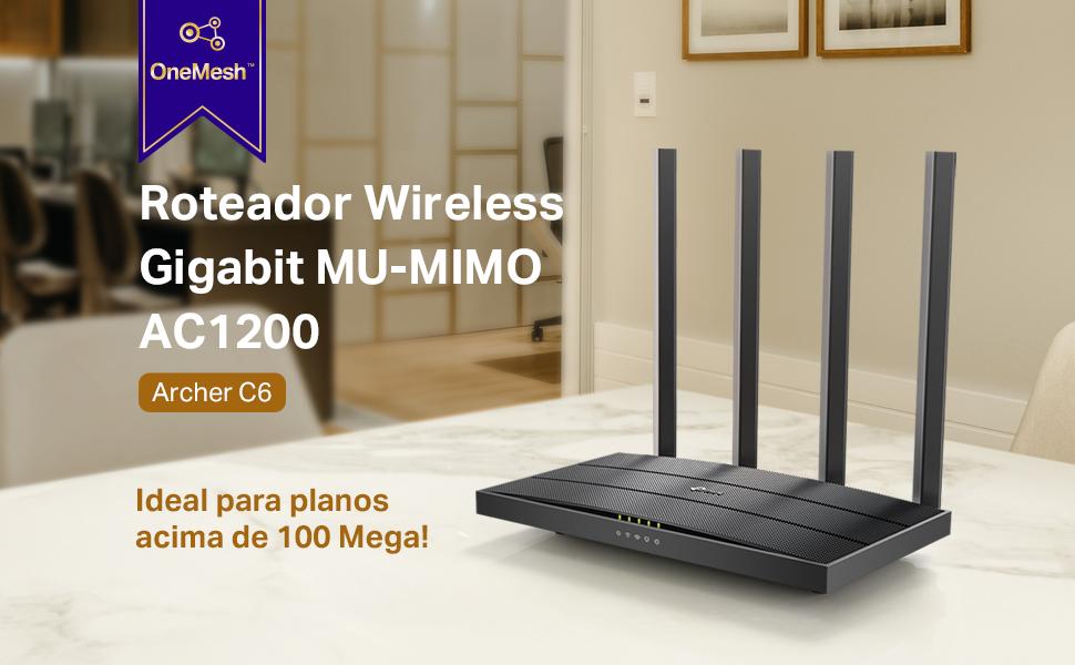 Roteador Wireless TP-Link Archer C6 Gigabit Mu-Mimo