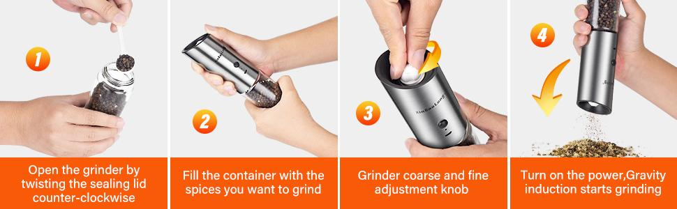 rechargeable salt and pepper