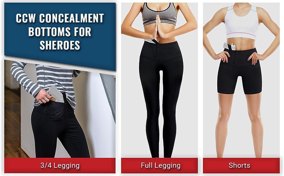 Womens CCW Leggings, Shorts and Capris