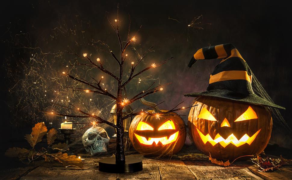 Led Halloween tree