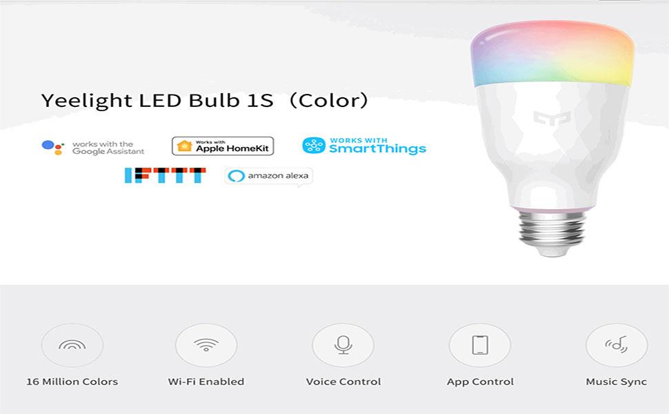 Yeelight Smart Bulb 1S (Colour)