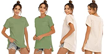 2 colors front and back cute tees