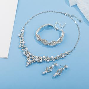 Necklace Earrings Bracelet Set
