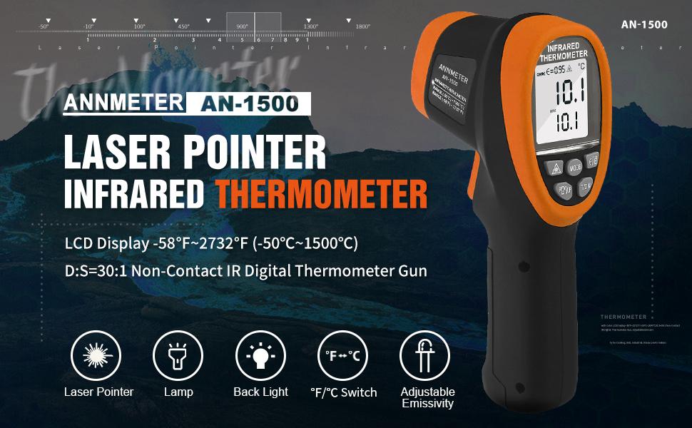 AN-1500 Non Contact High Temperature Gun
