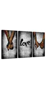 Graffiti Love Holding Hands Paintings Canvas Wall Art