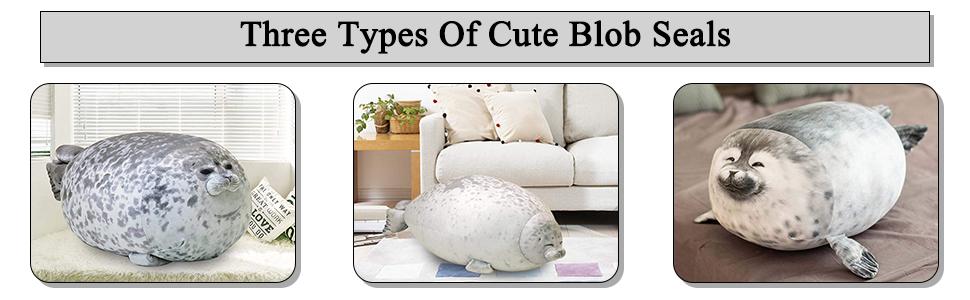 Chubby Blob Seal Pillow giant stuffed animal crossing